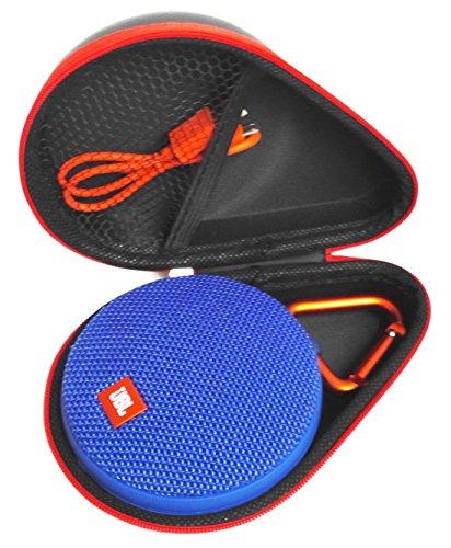 FitSand TM Portable Travel Carry Zipper Protective EVA Hard Case Cover Bag Box for JBL Clip 2 Waterproof Portable Bluetooth Speaker