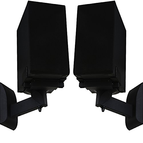 Constructed From High Quality Steel And Competed In A Smooth Satin Black Powder Coated Finish For Long Life Durability Supports Speakers Up To 55 Lbs