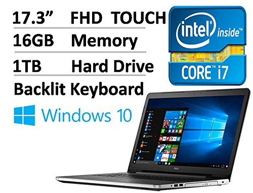 4a8eefbcedff Dell Inspiron 17.3 Inch Full HD 1920 x 1080 Touchscreen Signature ...