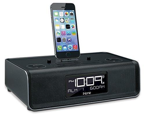 iHome iDL44 Lightning Dock Dual Clock Radio with USB Charge