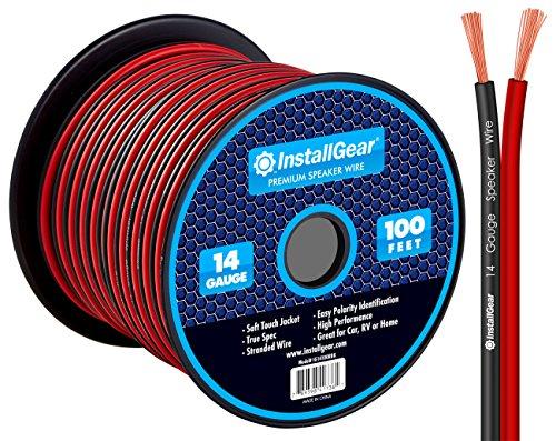 Installgear 14 Gauge Awg 100ft Speaker Wire Cable Red Black