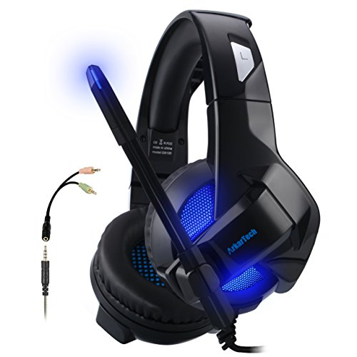 Folding Gaming Headset For Xbox One PS4, ARKARTECH Noise Cancelling