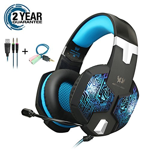 Gaming Headset with RGB LED Light for PS4 Xbox One Cell