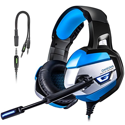 PS4 Gaming Headset, TUSBIKO Noise Cancelling Gaming Headphones with