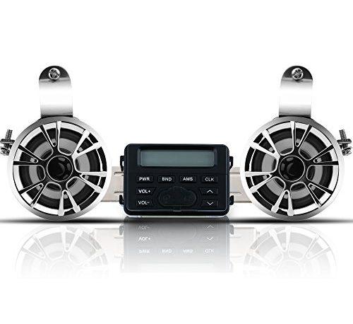 Winllyat Motorcycle Bluetooth Speaker Audio Radio Waterproof Handlebar Amplifier Stereo Speaker System FM MP3 Speakers