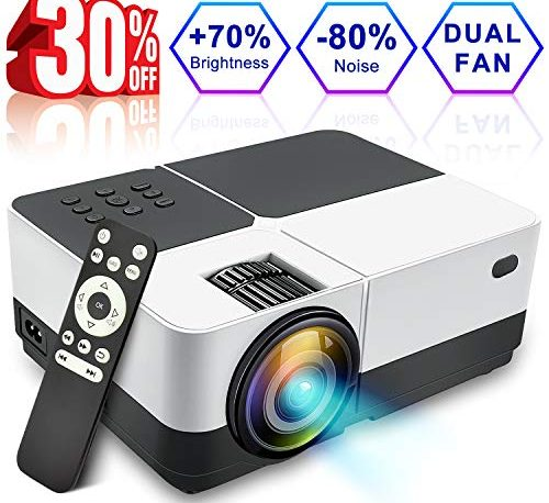2018 New Home Projectors Theater Lcd 1080p Hd Multimedia: Wsiiroon LCD Projector, 2018 Newest 2500 Lumens Portable