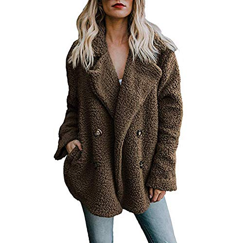 af009c00 Ulanda Women's Long Sleeve Thick Hooded Open Front Cardigan Autumn ...
