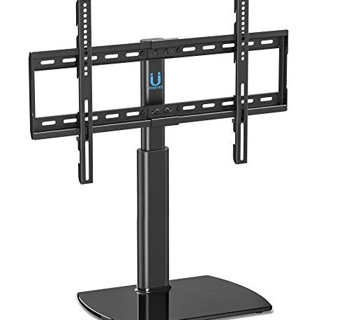 Fitueyes Universal Tv Stand Base Swivel Tabletop Tv Stand