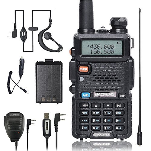 BaoFeng Walkie Talkie UV-5R Dual Band Two Way Radio with one