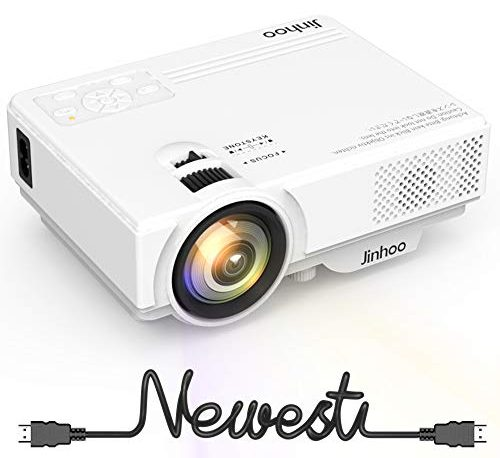 Hd Projector Full Color 720p 2400 Lumens Digital Tv Single: 2019 Newest, Mini Projector 1080P Supported, 2400 Lumens