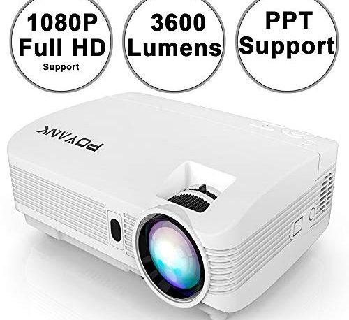 POYANK WXGA 3600Lumens LCD Projector Full HD 1080P Support