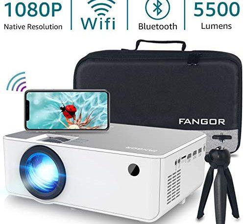 1080P HD Projector, WiFi Projector Bluetooth Projector